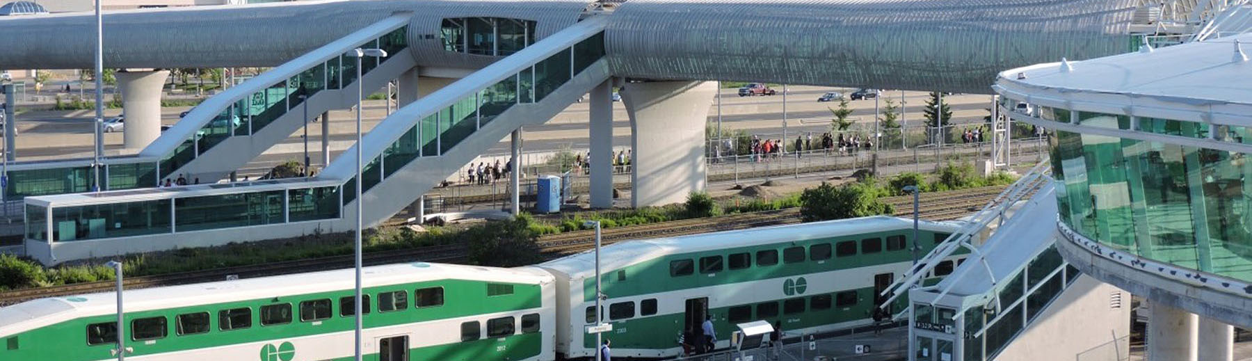 GO Train and bus station in Pickering
