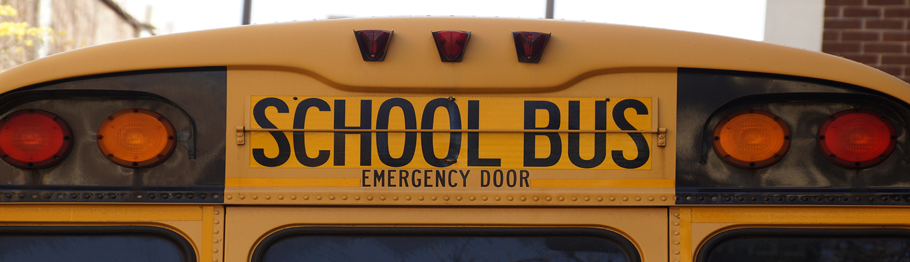 The top of a yellow school bus.