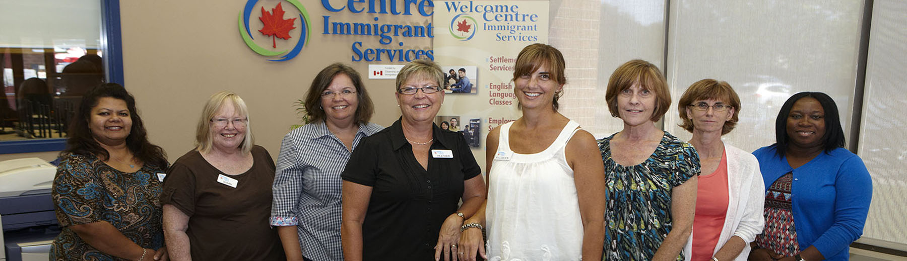 Staff at the Welcome Cente in Pickering