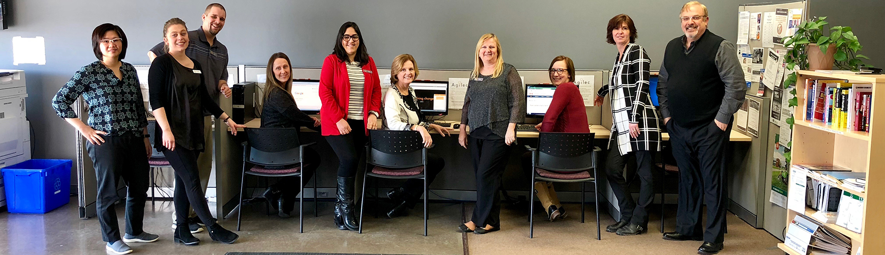 Staff from Agilec, an Employment Ontario Service Provider