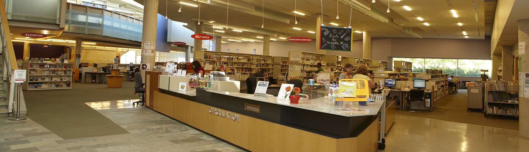 Front counter at the Ajax Public Library